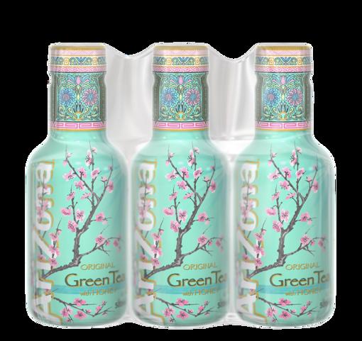 Afbeeldingen van ARIZONA GREEN TEA GIN&HONEY 6X500ML