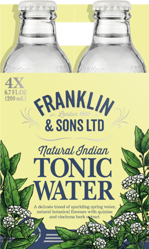 Image de FRANKLIN TONICS & MIXERS INDIAN TONIC 4X20CL